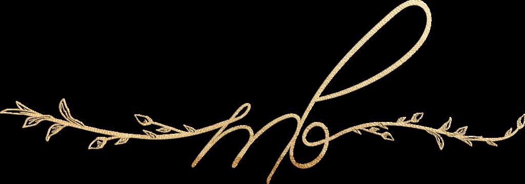 Mary Bielski's gold scripted logo